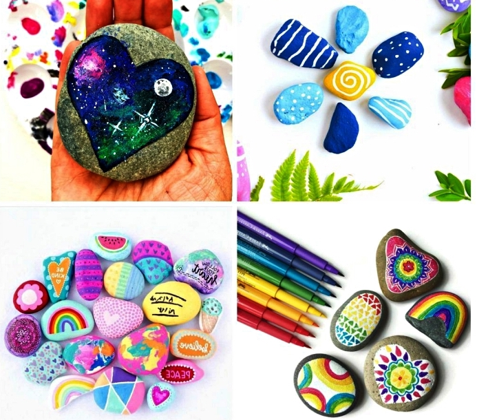 Activities and creations to do with painted pebbles